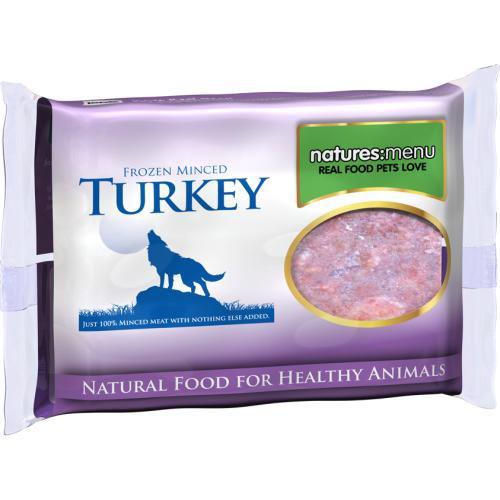 Natures Menu Minced Turkey Raw Frozen Dog Food