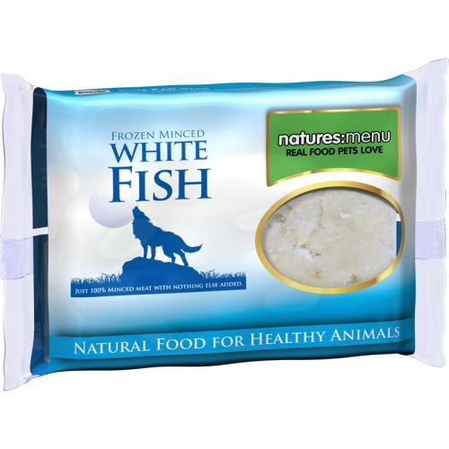 Natures Menu Minced White Fish Raw Frozen Dog Food