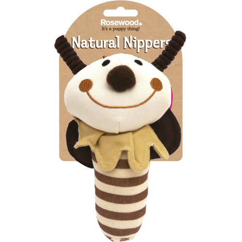 Rosewood Natural Nippers Shake & Rattle Puppy Toy