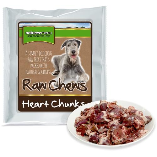 Natures Menu Whole Meat Chunks Chicken Hearts Raw Frozen Dog Food