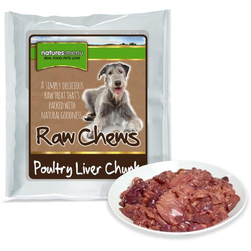 Natures Menu Poultry Liver Chunks Raw Frozen Dog Food