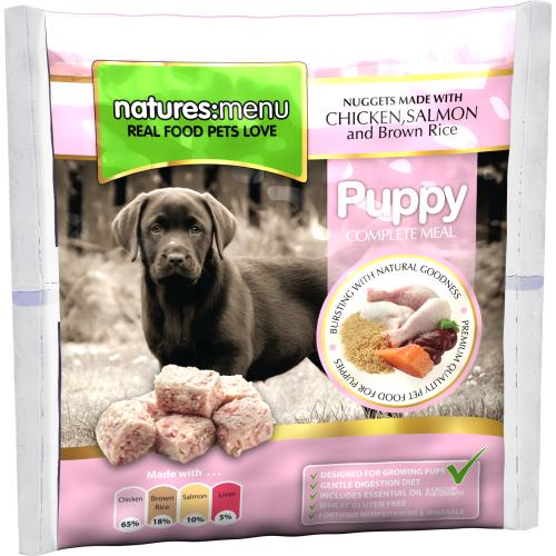 Natures Menu Complete Puppy Nuggets Raw Frozen Dog Food
