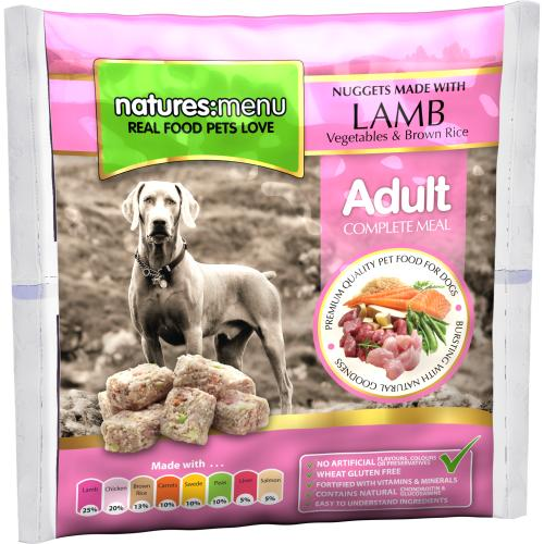 Natures Menu Complete Lamb Nuggets Raw Frozen Dog Food