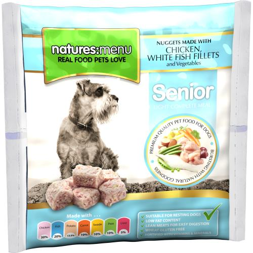 Natures Menu Complete Senior Nuggets Raw Frozen Dog Food
