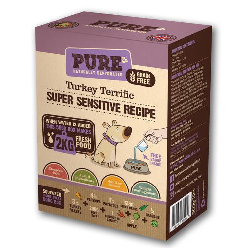 Pure Pet Food Turkey Terrific Dehydrated Dog Food
