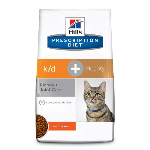 Hills Prescription Diet KD+ Mobility Kidney + Joint Dry Cat Food Chicken