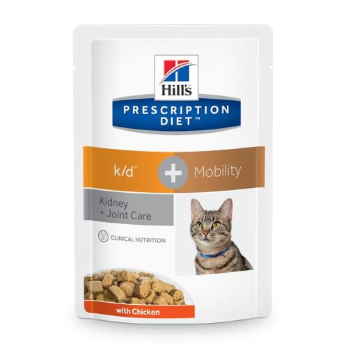 Hills Prescription Diet KD+ Mobility Kidney + Joint Cat Food Pouches
