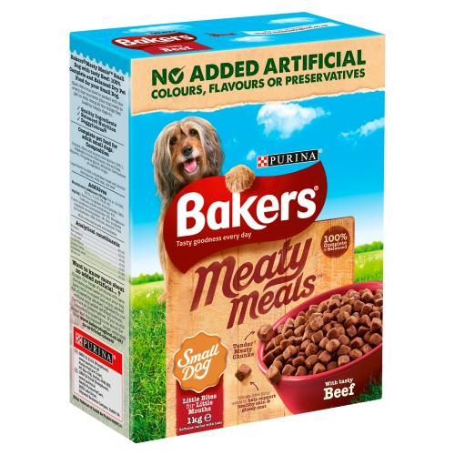 Bakers Meaty Meals Beef Small Adult Dog Food