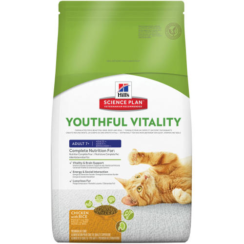 Hills Science Plan Feline Youthful Vitality Adult & Senior 7+ Chicken Dry Food