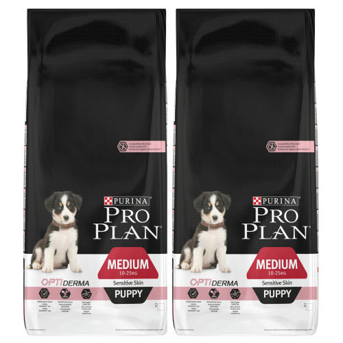 PRO PLAN OPTIDERMA Salmon Sensitive Skin Medium Puppy Food