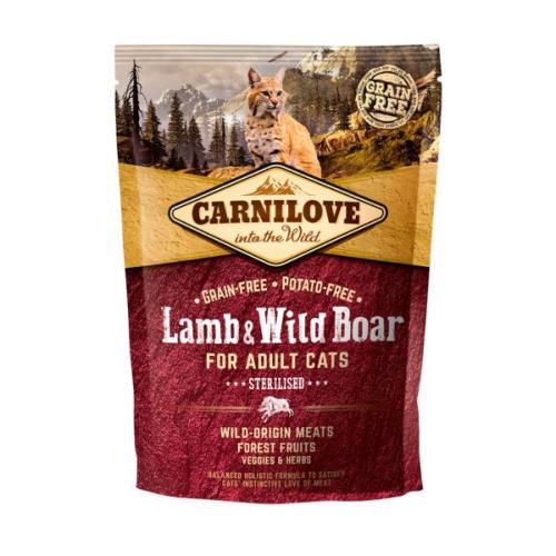 Carnilove Sterilised Lamb & Wild Boar Adult Cat Food