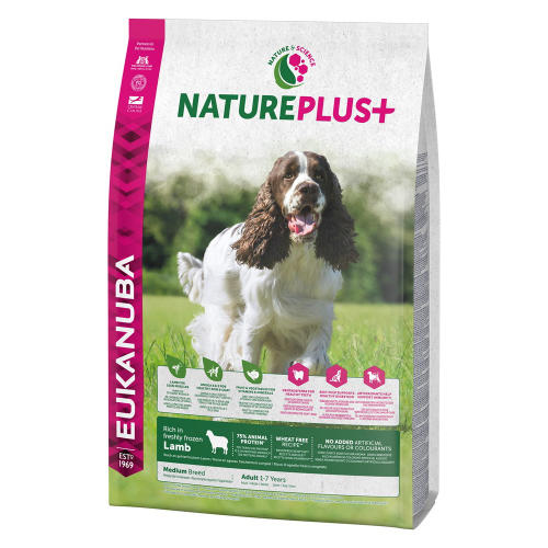 Eukanuba Nature Plus Lamb Adult Medium Breed Dog Food