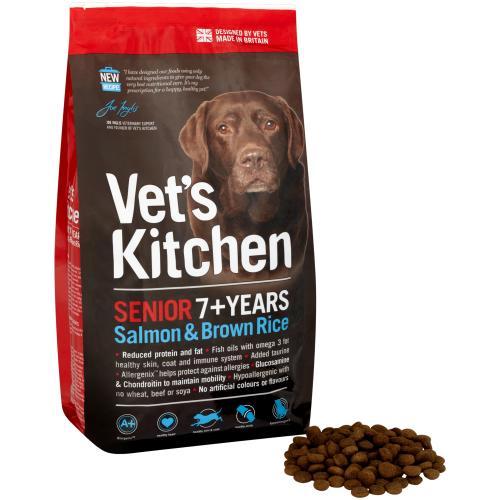 Vets Kitchen Salmon & Brown Rice Senior Dog Food