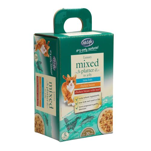 HiLife Its Only Natural Luxury Mixed Platter in Jelly Adult Cat Food
