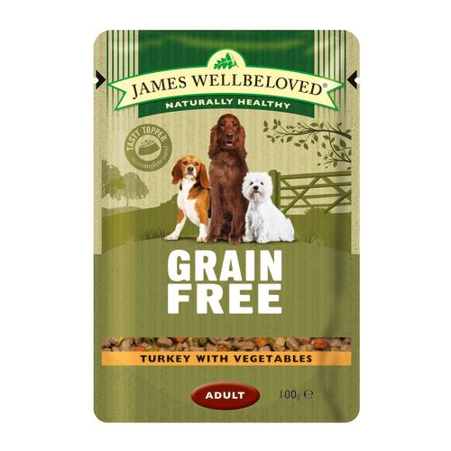 James Wellbeloved Turkey Adult Dog Grain Free Pouches