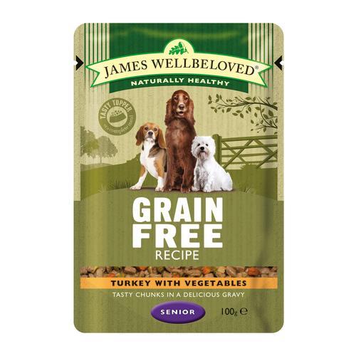 James Wellbeloved Turkey Senior Dog Grain Free Pouches