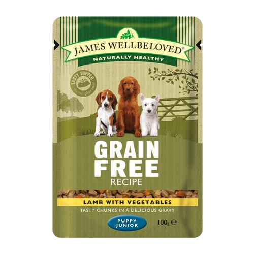 James Wellbeloved Lamb Puppy Grain Free Pouches