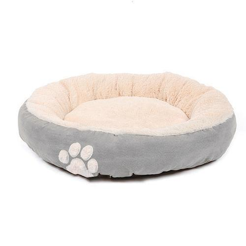 Happy Pet Hugs Round Dove Grey Dog Bed