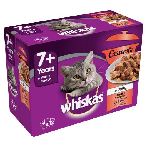 Whiskas Casserole Meaty Selection 7+ Senior Cat Pouches in Jelly