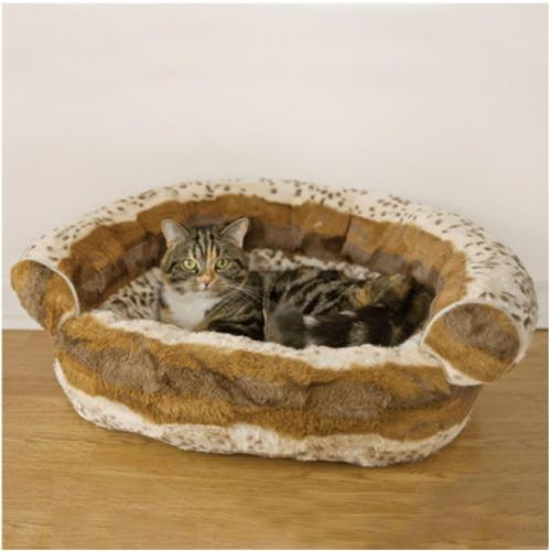 Rosewood Hyena Print Cat Sofa