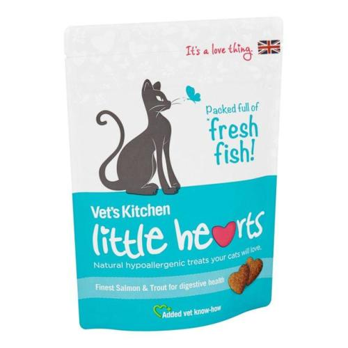 Vets Kitchen Little Hearts Salmon & Trout Cat Treats