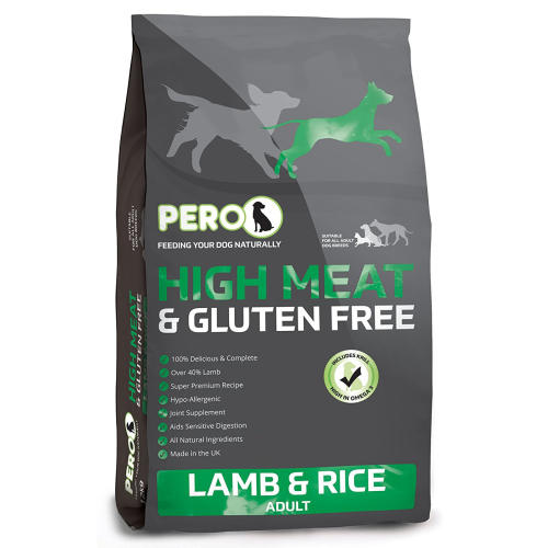 Pero High Meat & Gluten Free Lamb & Rice Adult Dog Food