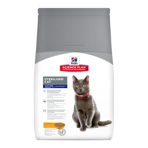 Hills Science Plan Mature Adult 7+ Sterilised Chicken Cat Food