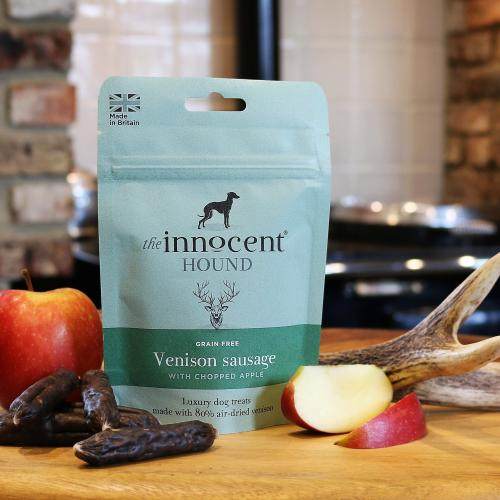 The Innocent Hound Venison Sausage with Chopped Apple Dog Treats
