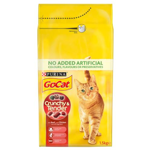 Go-Cat Crunchy Beef & Chicken Cat Food