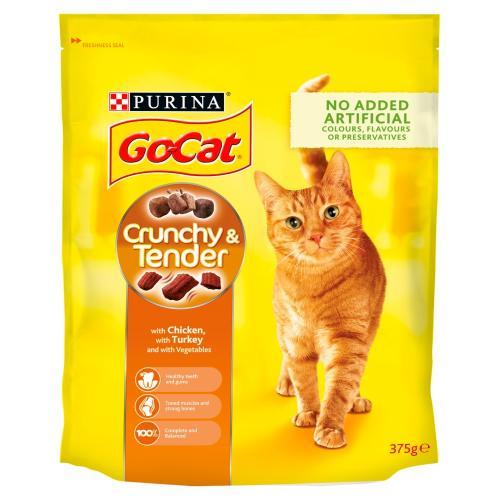 Go-Cat Crunchy Chicken Turkey & Vegetables Cat Food