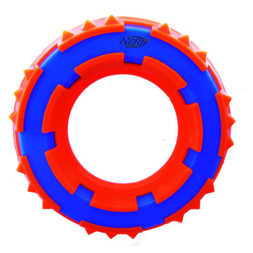 Nerf Two Tone Spike Ring Dog Toy