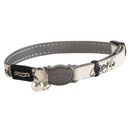 Rogz GlowCat White & Grey Reflective Cat Collar