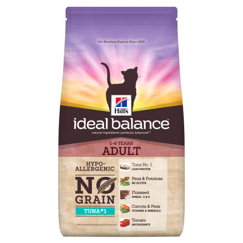 Hills Ideal Balance No Grain Tuna & Potato Adult Dry Cat Food