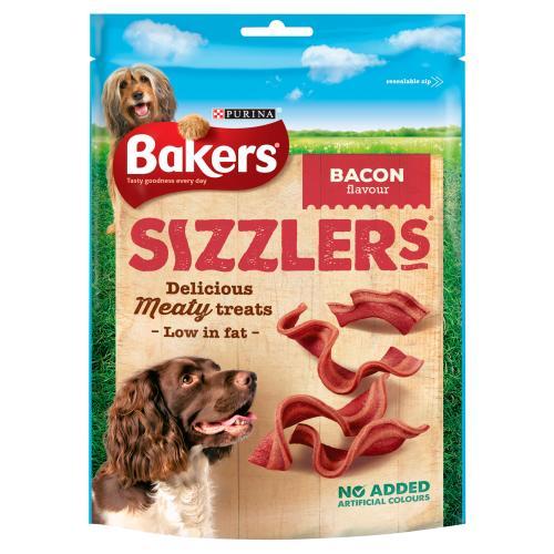 Bakers Sizzlers Bacon Dog Treats
