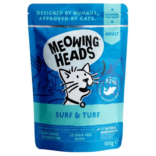 Meowing Heads Surf & Turf Wet Cat Food
