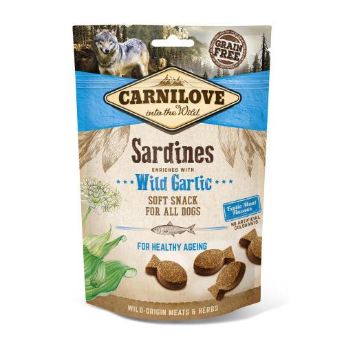 Carnilove Semi-moist Snack Sardines with Wild Garlic Dog Treat