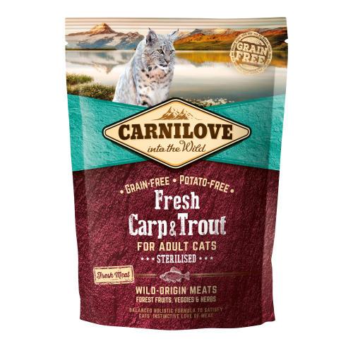 Carnilove Fresh Carp & Trout Dry Adult Cat Food