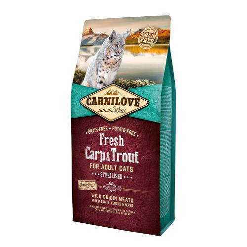 Carnilove Fresh Carp & Trout Dry Adult Cat Food
