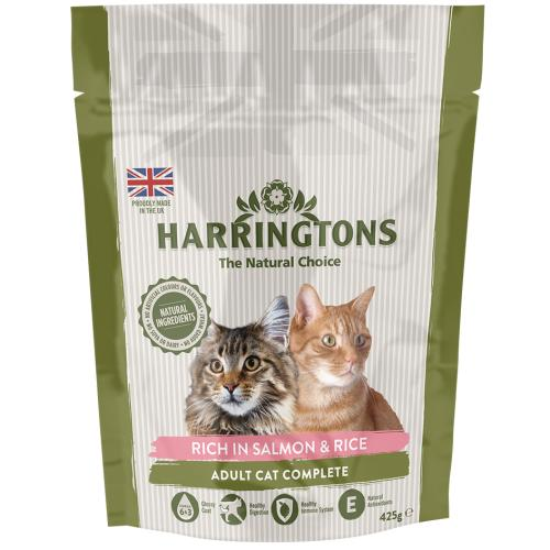 Harringtons Complete Salmon with Rice Dry Adult Cat Food