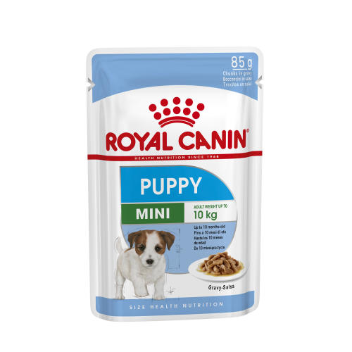 Royal Canin Mini Wet Puppy Food Pouches in Gravy