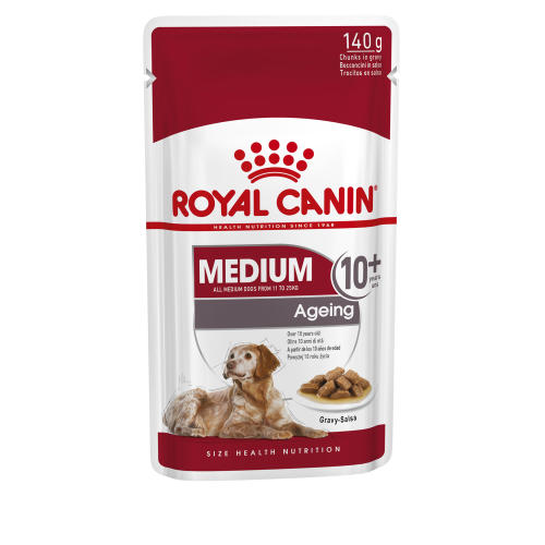 Royal Canin Medium Wet Ageing Senior Dog Food Pouches in Gravy