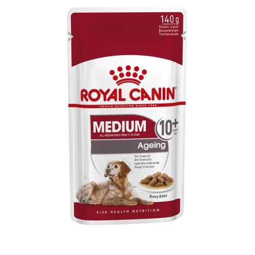 Royal Canin Medium Wet Ageing Senior Dog Food Pouches in Gravy