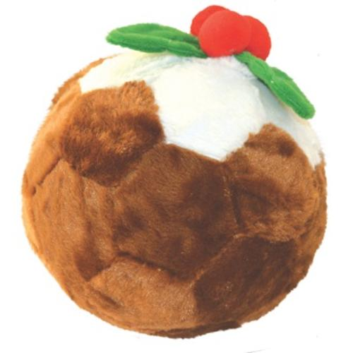 Happy Pet Supersize Football Christmas Pudding Dog Toy