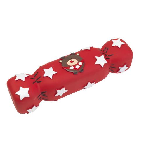 House of Paws Vinyl Christmas Cracker Dog Toy