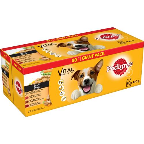 Pedigree Vital Mixed Selection in Gravy Wet Adult Dog Food