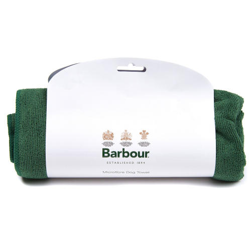 Barbour Micro Fibre Dog Towel in Green