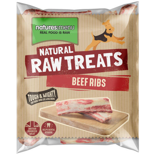 Natures Menu Beef Ribs Raw Frozen Natural Dog Treat