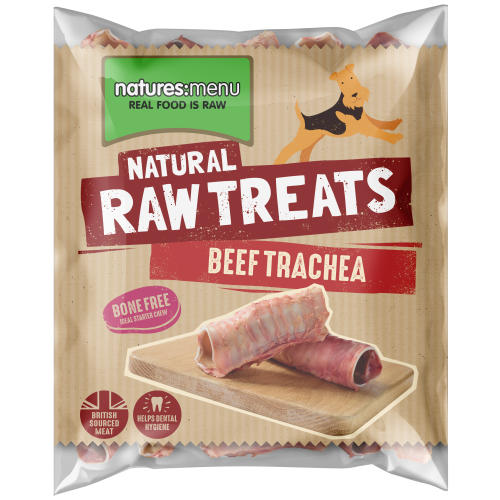 Natures Menu Beef Trachea Raw Frozen Natural Dog Treat