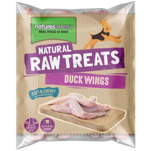 Natures Menu Duck Wings Raw Frozen Natural Dog Treat