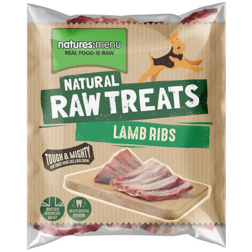 Natures Menu Lamb Ribs Raw Frozen Natural Dog Treat